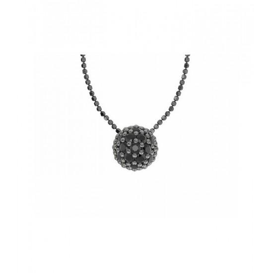 Colgante de plata y espinelas negras naturales. Colección Play Color de la firma Bohemme.