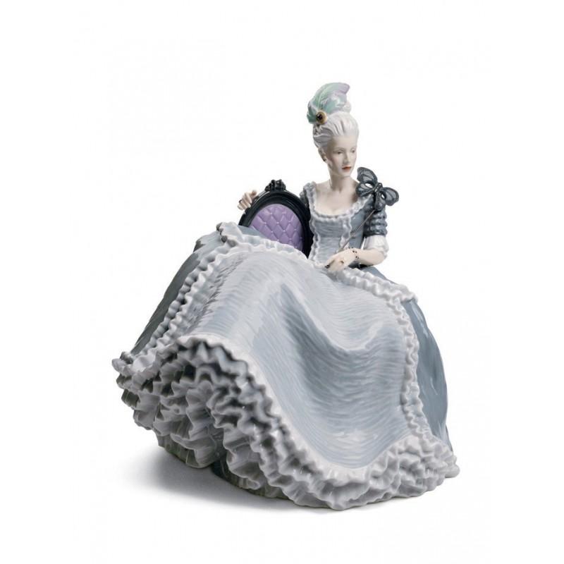 Figura de porcelana de Lladró Dama Rococó en el Baile