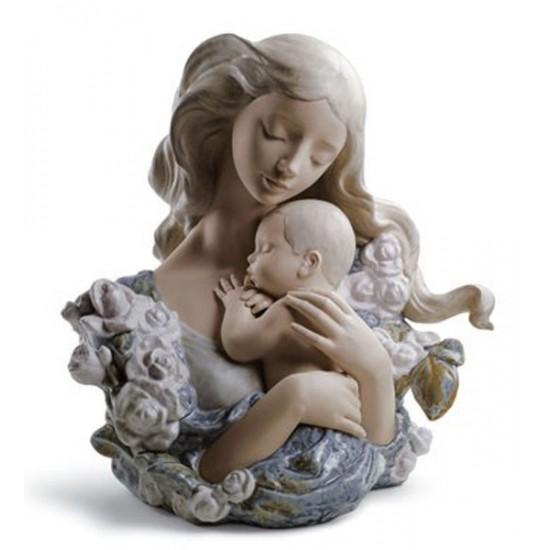 Figura de porcelana de Lladró Madre Dichosa