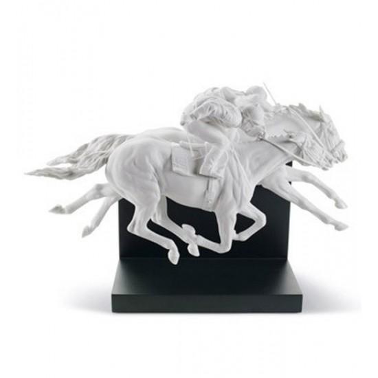 Figura de porcelana de Lladró Carrera de Caballos