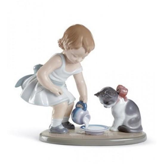 Figura de porcelana de Lladró El Desayuno del Gato