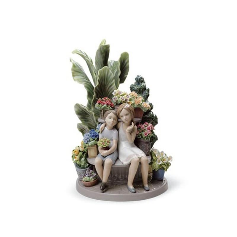 Figura de porcelana de Lladró Secretos en el Parque