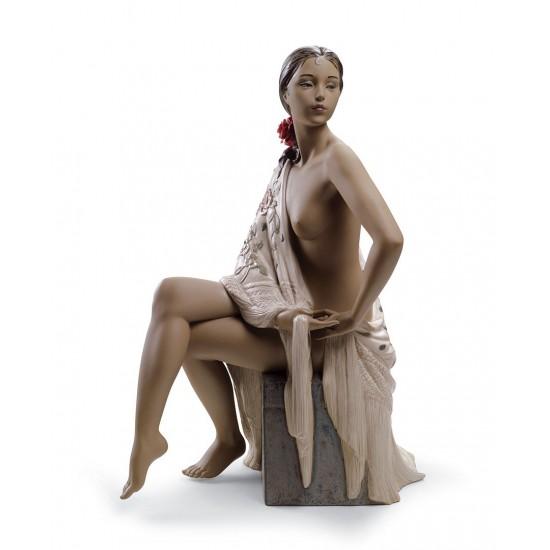 Figura de porcelana Lladró Desnudo con Mantón