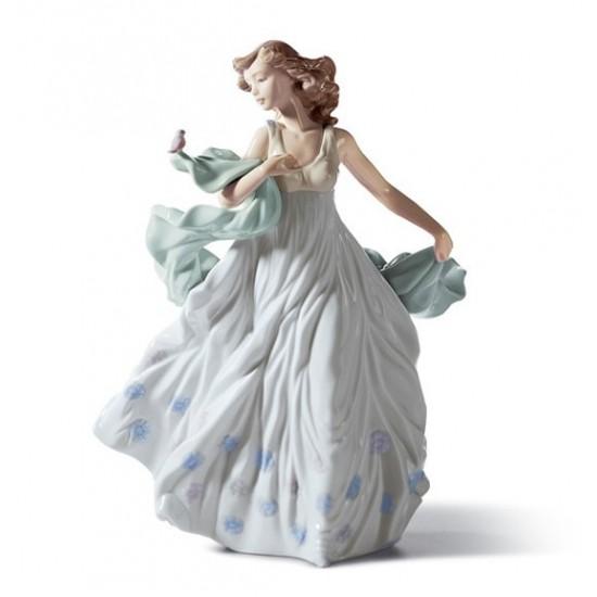Figura de porcelana Lladró Dama del Ruiseñor