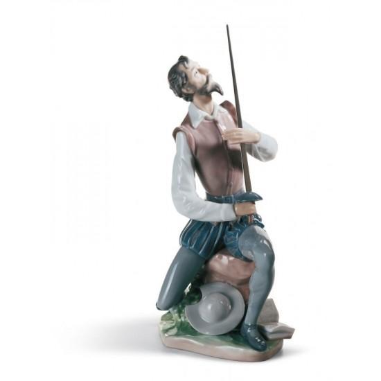 Figura de porcelana de Lladró Don Quijote Declamando