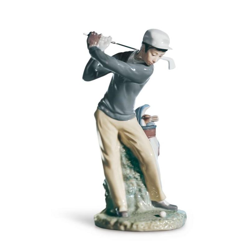 Figura de porcelana de Lladró Jugador de Golf