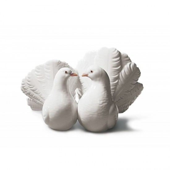 Figura de porcelana de Lladró Pareja de palomas