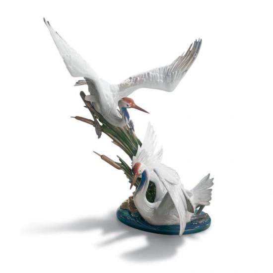 Figura de porcelana de Lladró Grullas