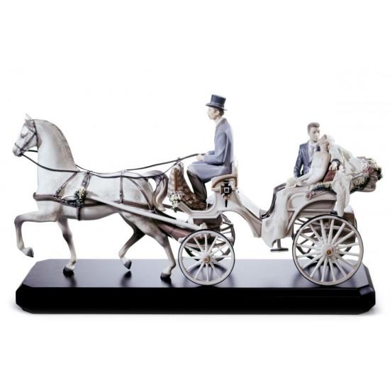 Figura de porcelana de Lladró Carruaje de novios