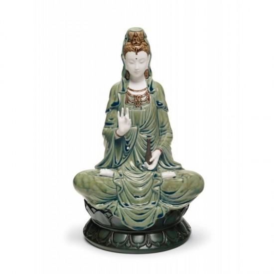 Figura de porcelana Lladró Kwan Yin (verde)