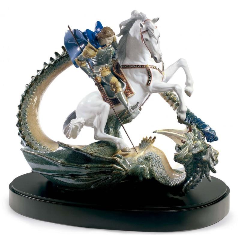 Figura de porcelana Lladró San Jorge y el Dragón