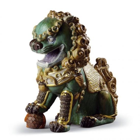 Figura de porcelana de Lladró León oriental (verde)