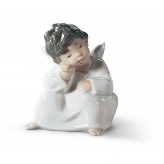 Figura de porcelana de Lladró Ángel pensando