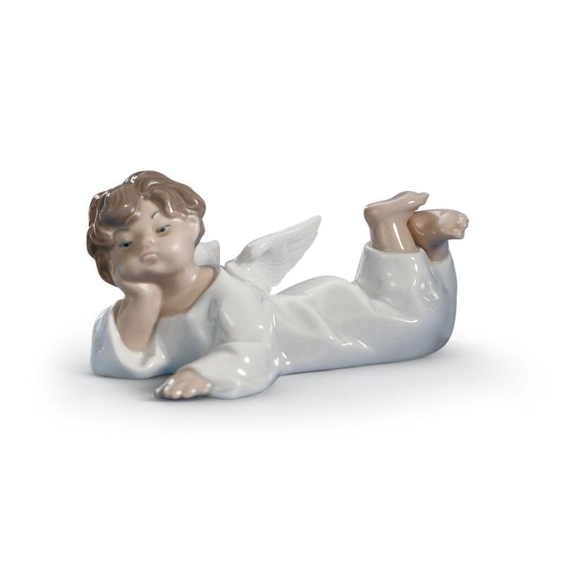 Figura de porcelana de Lladró Ángel acostado