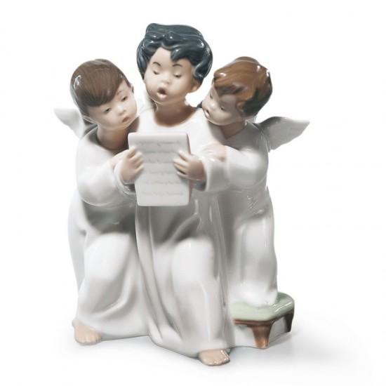 Figura de porcelana de Lladró Grupo de ángeles