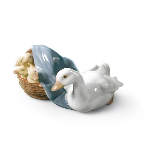 Figura de porcelana de Lladró Cría de patos