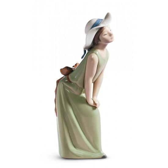Figura de porcelana de Llaró Pamela curiosa