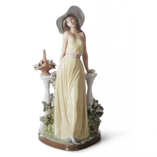 Figura de porcelana de Llaró Dama reflexiva