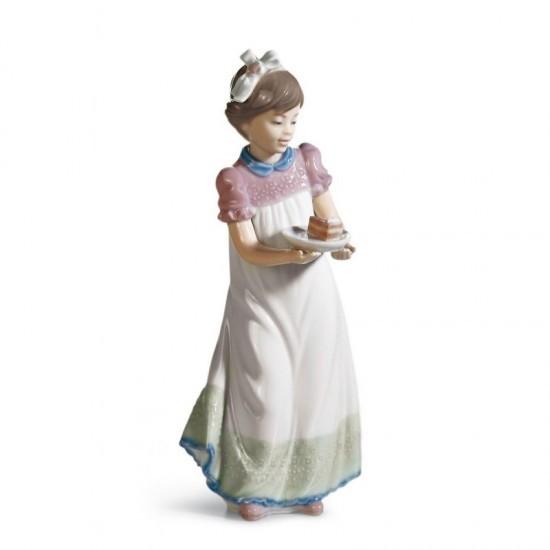 Figura de porcelana de Lladró Niña con tarta
