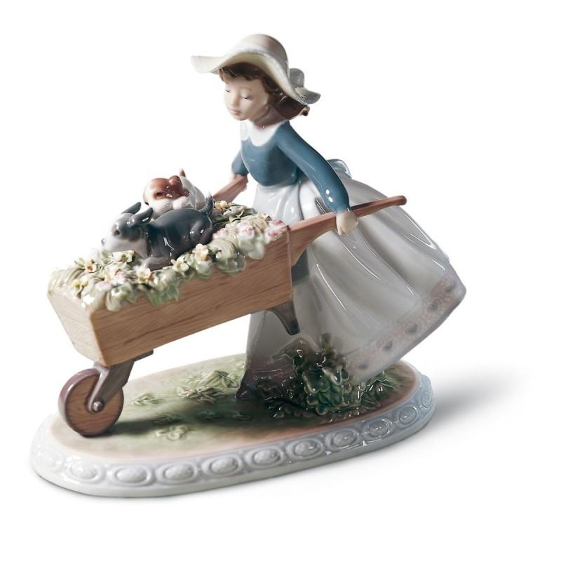 Figura de porcelana de Lladró A la carrera