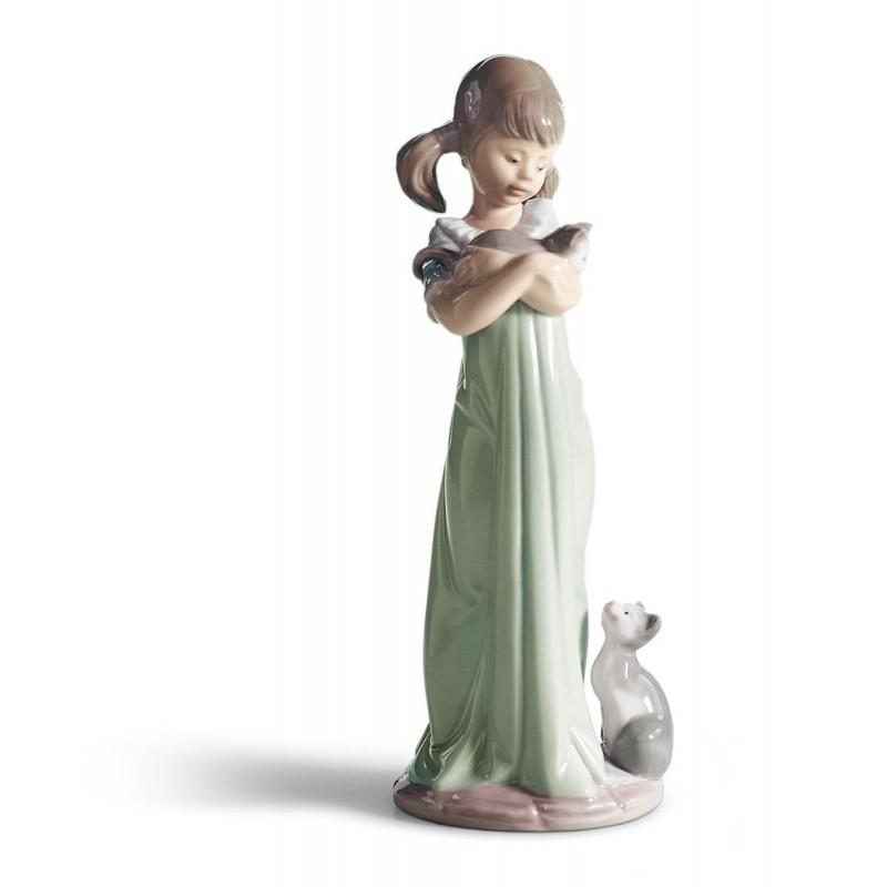 Figura de porcelana de Lladró Caricias y celos
