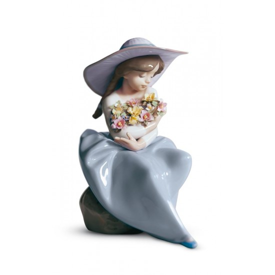 Figura de porcelana de Lladró ¡Qué bonita es la primavera!