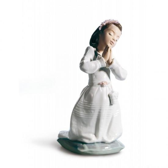 Figura de porcelana de Lladró Niña Comunión