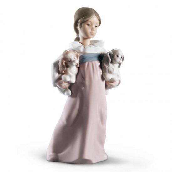 Figura de porcelana de Lladró A jugar fuera