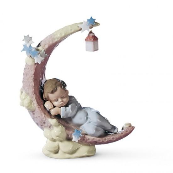 Figura de porcelana de Lladró Soñando con la luna