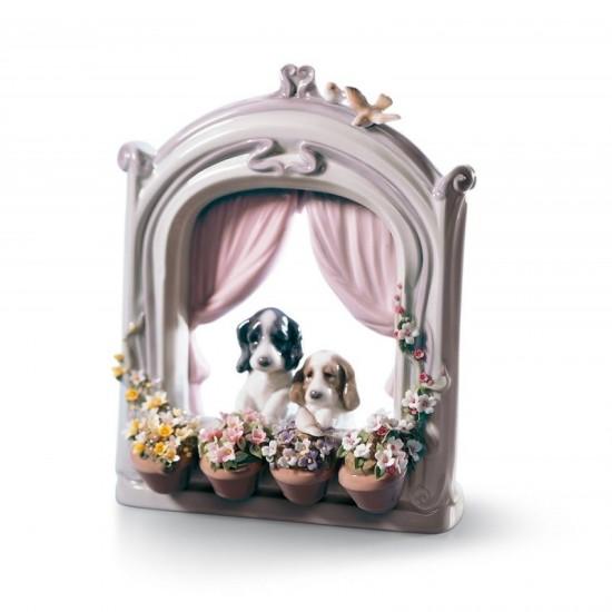 Figura de porcelana de Lladró Ventana florida
