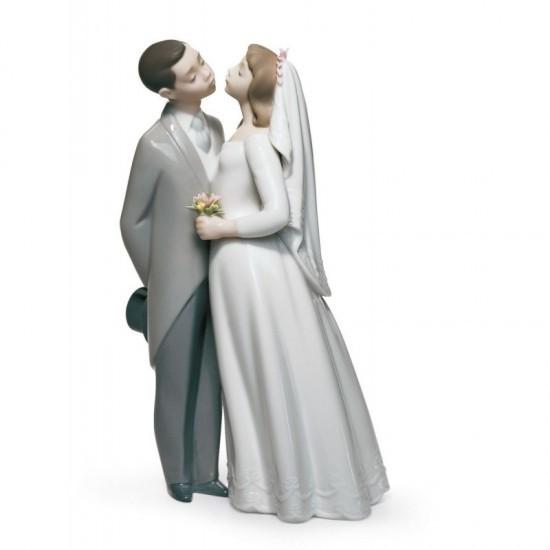 Figura de porcelana de Lladró Beso de boda