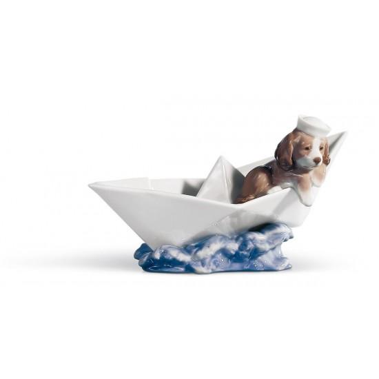 Figura de porcelana de Lladró Barco de papel