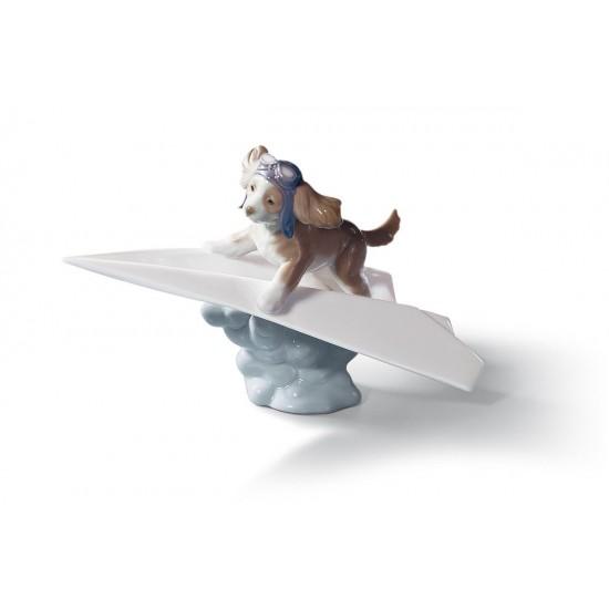 Figura de porcelana de Lladró Avión de papel