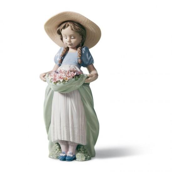 Figura de porcelana de Lladró La niña del prado
