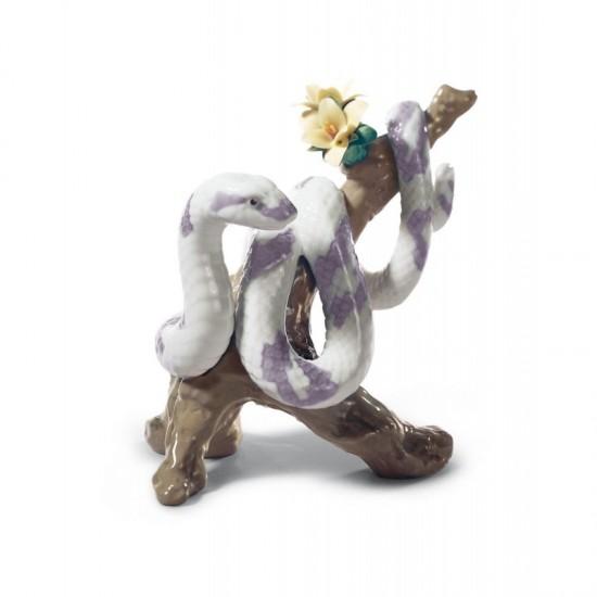 Figura de porcelana de Lladró La Serpiente (blanca)