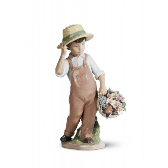Figura de porcelana de Lladró ¡Qué alegre estás!
