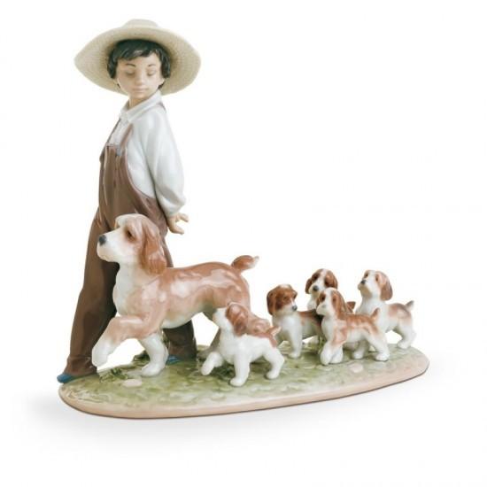 Figura de porcelana de Lladró Mis pequeños exploradores