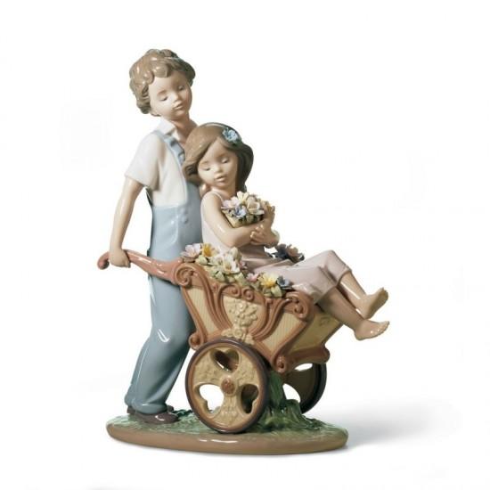 Figura de porcelana de Lladró ¡Tú eres la más bonita!