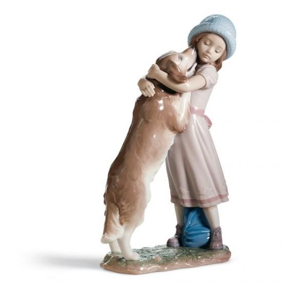 Figura de porcelana de Lladró Cariñosa bienvenida