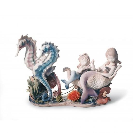 Figura de porcelana de Lladró Paseo bajo el mar