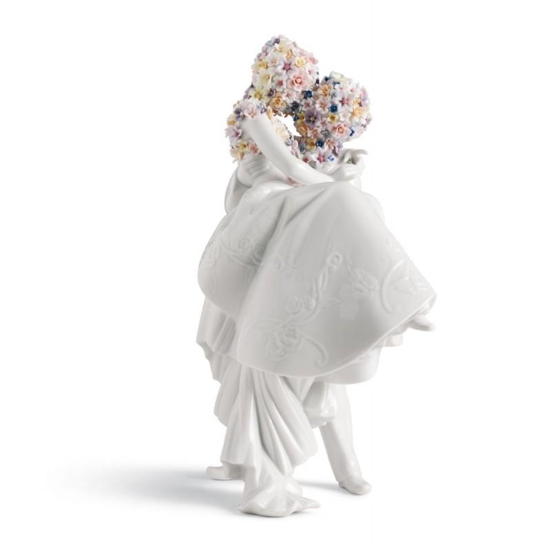 Figura de porcelana de Lladró Amor II (flores)