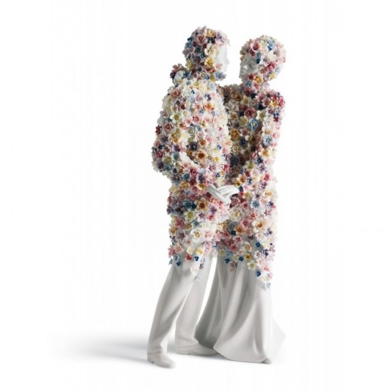 Figura de porcelana de Lladró Amor III (flores)