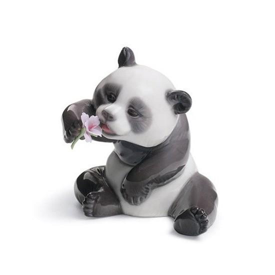 Figura de porcelana de Lladró Panda Feliz