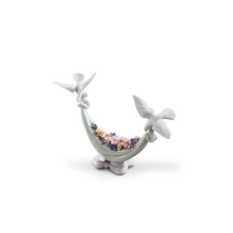 Figura de porcelana de Lladró Flores del Cielo