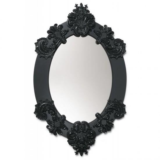 Espejo ovalado (negro)