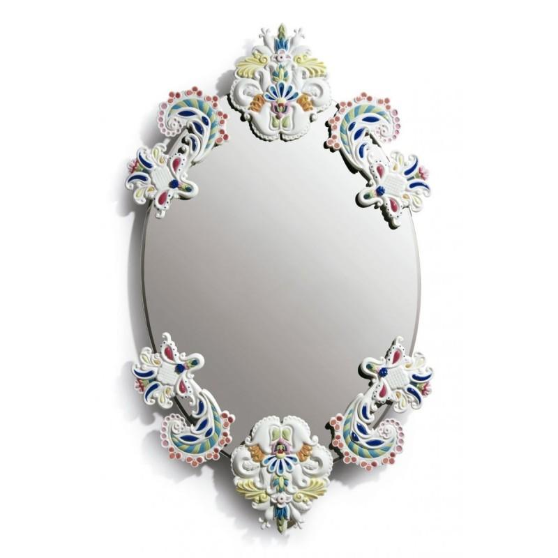 Espejo oval sin marco (multicolor)