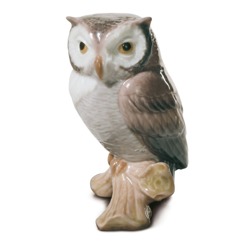 Figura de porcelana de Lladró Búho de la suerte