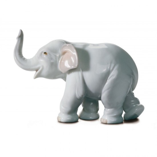 Figura de porcelana de Lladró Elefante de la suerte