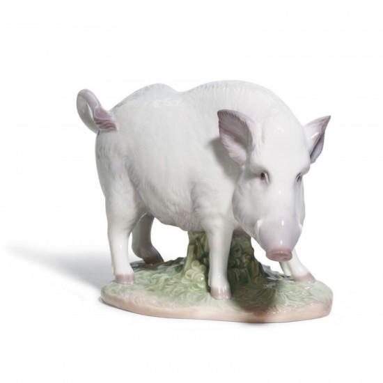 Figura de porcelana de Lladró El Jabalí