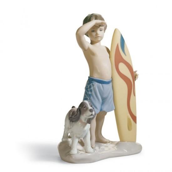 Figura de porcelana de Lladró Pequeño surfista